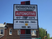 Donovan Brothers Automotive shop sign
